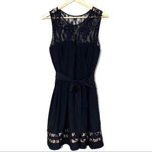 GUESS Black Cocktail Dress with Lace Detail